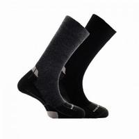 Κάλτσες HORIZON SHOCKS MERINO LINNING 8-28-001 Μαύρο/Γκρι