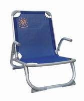 Καρέκλα Παραλίας Summer Club Αλουμινίου, χαμηλή με ενίσχυση Μπλε 19383