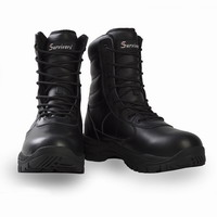Αδιάβροχο Άρβυλο Survivors Trooper Leather WP Black 07727