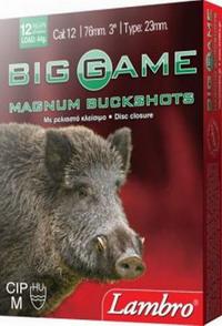 """Φυσίγγια Δράμια Lambro Big Game 12Βολα 3"""" Magnum"""