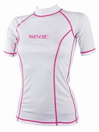 Γυναικείο Μπλουζάκι Με Προστασία UV+50 Rashguard Seac Sub T-Sun White/Pink 15500160120