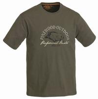 Μπλουζάκι T-Shirt Pinewood Wild Boar Khaki 5422-121