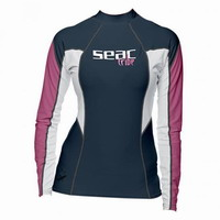 Μπλουζάκι Γυναικείο Μακρυμάνικο Rash Guard Seac Sub Raa Long Evo UV+50 Blue 15500020020