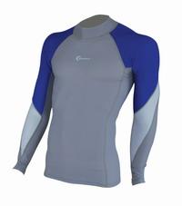 Ανδρική Μπλούζα Blue Wave Rash Guard Με Προστασία UV+50 Blue/Grey 64680