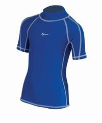 Παιδικό Κοντομάνικο Μπλουζάκι Rash Guard Με Προστασίας UV+40 Blue Wave Blue 64636