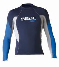 Μπλουζάκι με προστασία Ανδρικό Μακρυμάνικο Rash Guard Seac Sub Raa Long Evo UV+50 Blue 15500020000