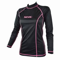 Γυναικείο Μπλουζάκι Μακρυμάνικο Rash Guard UV+50 Seac Sub T-Sun Long Black 1550015008025
