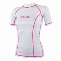 Γυναικείο Μπλουζάκι Προστασίας UV+50 Seac Sub Sun Guard Short White 1550013002025